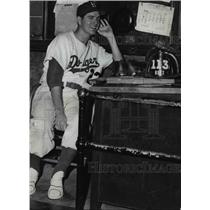 1952 Press Photo Clyde King, pitcher for Brooklyn Dodgers