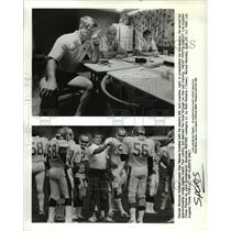 1985 Press Photo Denver Broncos football coach Dan Reeves