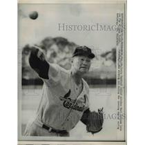 1959 Press Photo St. Louis Cardinal Marv Grissom Spring Training