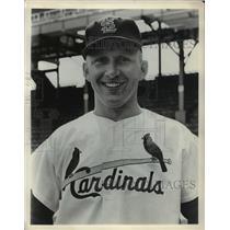 Press Photo Joe Cunningham, St. Louis Cardinals Baseball Player