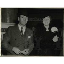 1936 Press Photo Hollywood Calif Maxie Rosenbloom boxer & Mary E Campbell