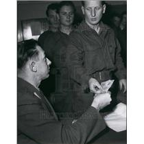 Press Photo Germany's First Post War Draftees Receive Their Pay - KSB54673