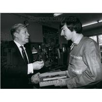 Press Photo Federal Chancellor of West Germany Helmut Schmidt - KSB51987