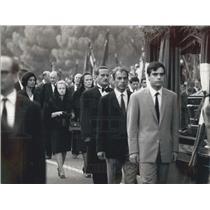 Press Photo Funeral of Palmiro Togliatti in Italy