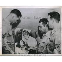 1951 Press Photo Korea. USAF J Nicholson,M Knapp,Wm McGann, Sgt Stafford