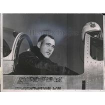 1953 Press Photo Lt. Col. Edwin H.Heller, America's Air Aces of World War II.