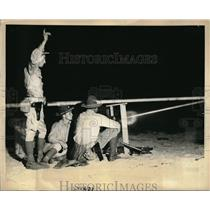 1936 Press Photo Machine Gun demonstration of night firing at Camp Dix N.J.