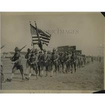 1917 Press Photo 14th Reg of Infantry of NY Natl Guard at practice