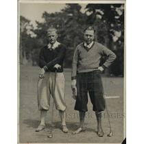 1929 Photo Golfers Jack Gaines and Claire Griswold With Earnest Faces