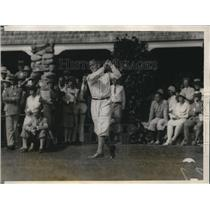1928 Photo Johnston Tees Off on his First Hole Nat Amateur Golf Tourn