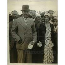 1930 Press Photo Capt & Mrs Charles Tremaybe after polo win vs UK in NY