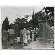 1934 Press Photo St. Mary's City, Maryland 300th Anniversary Church Gates