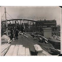 1927 Press Photo Repairs to White House in Washington