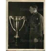 1927 Press Photo NYC Perpetual Challenge Cup Boy Scout Samson L Toplitz