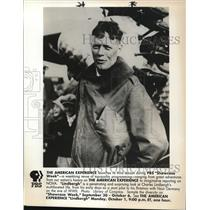 Press Photo Charles A. Lindbergh American aviator on Showcase Week PBS
