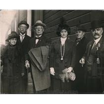 1913 Press Photo Around-the-World Travelers Homan, Langenan, Dalney, Drake