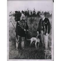 1935 Press Photo Needashseh, a Penorscot India, and E.G. Fitzgerald of Boston