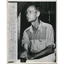 1949 Press Photo Jack Alexander of Quintown was visited by hundred manhood