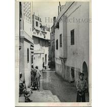 1942 Press Photo Street Scene in the Native Quarters of Algeria called the Casba