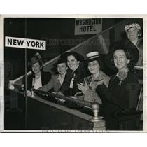 1940 Press Photo New York Women at Institute of Government Meeting