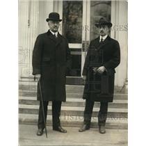 1922 Press Photo New York Governor Henry L. Miller, D.P. McCarthy