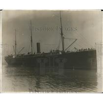 "1918 Press Photo Ship SS ""City of Para"" - nex55183"