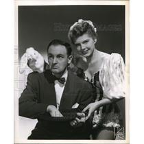 1950 Press Photo Billy Bishop and Ann