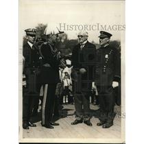 1930 Press Photo Lt Col Sir Hugh Turnbull, E Hultman, M Crowley