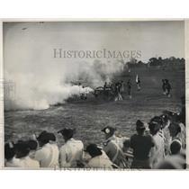 1931 Vintage Press Photo American Revolution re-enactment a battle