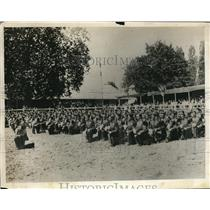 "1930 Press Photo St. Cyr Cadets take oath - France's ""West Point"""