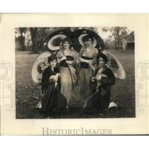 1928 Press Photo Music Box group Mount Union College's May Day event