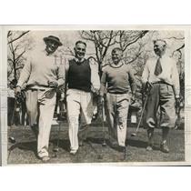 1932 Press Photo Football coaches KL Wilson, D Hanley,B Zuppke, F NcCormick