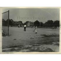 1933 Press Photo Tennis courts at Jefferson park playground