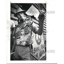1980 Press Photo Riots and demos
