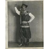 1929 Press Photo Polish Man in Traditional Costume / Dress