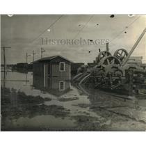 1923 Press Photo Shelby, Montana Flooded after Heavy Rain