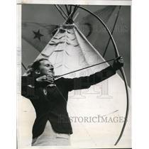 1938 Press Photo San Francisco Jean Tenny in 58th Annual Archery tourny