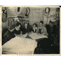 1924 Press Photo Spokane Wash women tally & count election votes