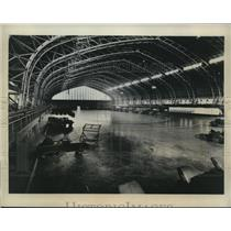 1923 Press Photo NYs Kingsbridge Armory cleaned for boat show