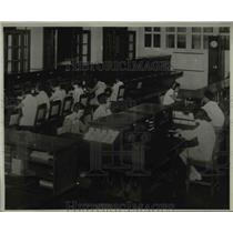 1934 Press Photo Telephone Operators of Netherlands Indies Telephone Admin. Java