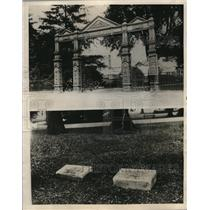 1923 Press Photo Late President Harding at Marion Cemetery for final rest