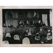 1936 Press Photo L Stoyadinovitch Addresses Jugoslav Senate in Belgrade