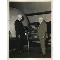 1928 Press Photo New Sec of Commerce WF Whiting & GK Burgess Bureau of Standards