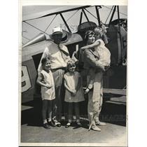 1932 Press Photo The entire Morgan Family