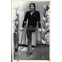 1979 Press Photo Vietnam veteran who lost his leg at war Charles Law