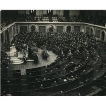 1922 Press Photo Funeral Service for Congressman James R. Mann of Illinois