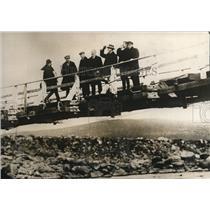1928 Press Photo International Society scientists at Kola Bay Arctic circle