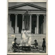 1922 Press Photo The Lot Flannery statue of Abraham Lincoln