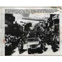1957 Press Photo major General Hassan Abdel Latif in the Gaza strip