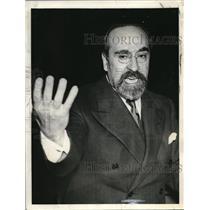 1939 Press Photo Honorable Dr. Fernando De Los Rios, Spanish Ambassador to U.S.